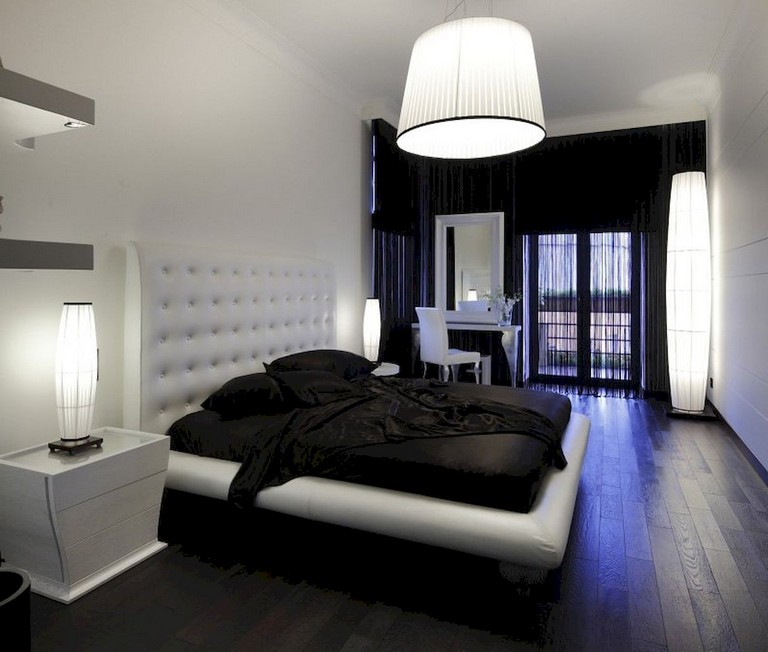 72+ Luxury Black and White Bedroom Style Ideas